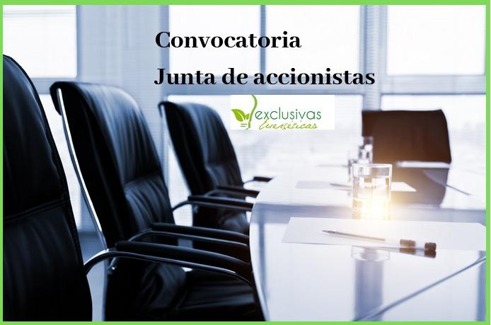 Convocatoria Junta General de Accionistas de Exclusivas Energéticas