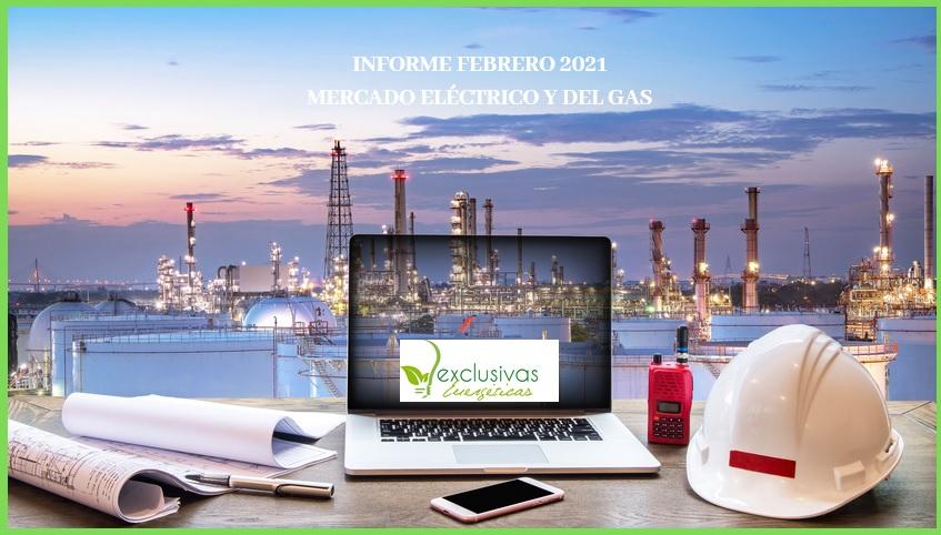 Informe del Mercado del Gas y Eléctrico. Febrero 2021