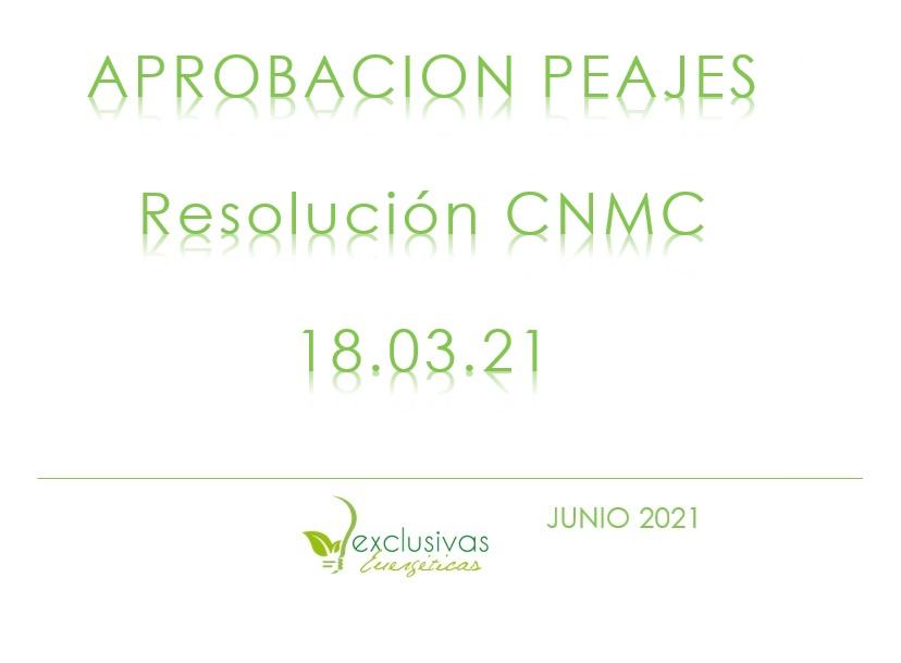 Aprobada resolución CNMC por la que se establece el valor de los peajes de la electricidad de aplicación a partir del 1 de junio
