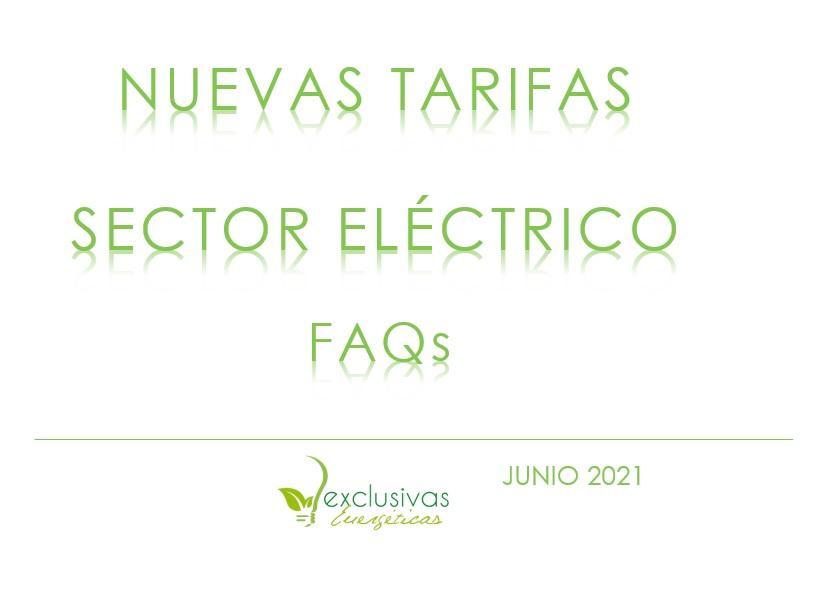 FAQs en relación a la entrada en vigor de las nuevas tarifas eléctricas el próximo 1 de junio